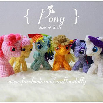 Amigurumi Crochet Dolls : My Little Pony Made to Order