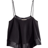 H&M - Circle Tank Top - Black - Ladies