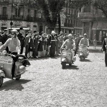 Vespa Scooter One By One Reproduction Photograph 8x10 inch
