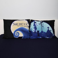 The Nightmare Before Christmas Jack & Sally Pillowcase Set
