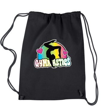 Gymnastics Neon Drawstring Backpack