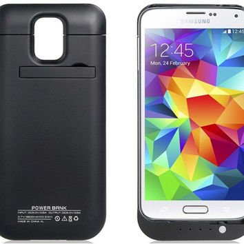 3800mAh Power Bank Case for Samsung Galaxy S5