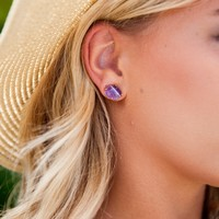 Passion Purple Stud Earrings