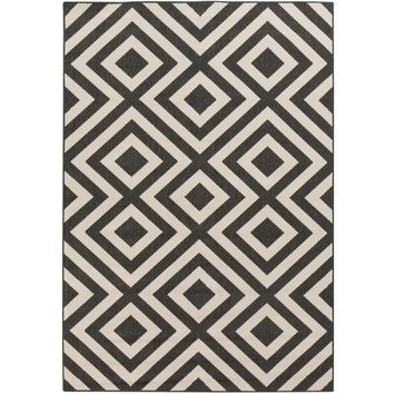 Diamond Black Indoor Outdoor Rug