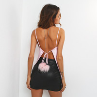 Butterfly Backless Spaghetti Strap Tops [11627078927]