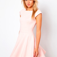 Ted Baker | Ted Baker Skater Dress with Capped Sleeves at ASOS
