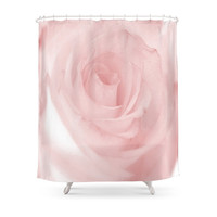 Society6 Pale Pink Rose Shower Curtain