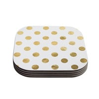 "KESS Original ""Scattered Gold"" Coasters (Set of 4) - Outlet Item"