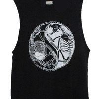 Once Youth Skeleton Yin Yang Muscle Tank in Black or White