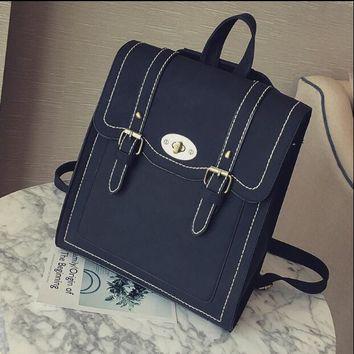 University College Backpack European and American  style retro  Korean version of the Mori girl schoolbag simple leisure  campus puAT_63_4