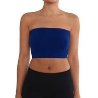 Women's Strapless/Seamless Tube Top Bandeau - Royal Blue