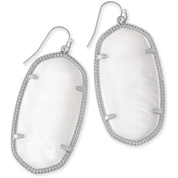 Kendra Scott: Danielle Silver Earrings In White Pearl
