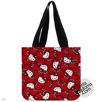 hello kitty scrubs pattern, handmade bag, canvas bag, tote bag