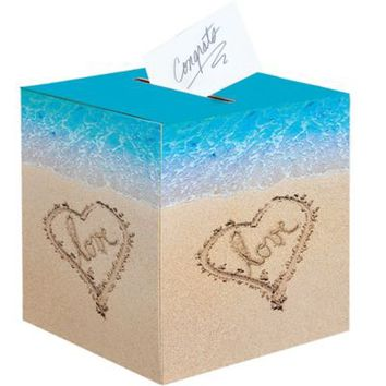 Beach Love Wedding Card Holder Box 12in | Party City