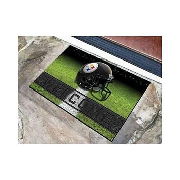 Pittsburgh Steelers 3D Crumb Rubber 18x30 Welcome Mat