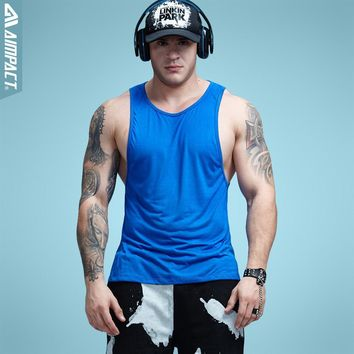 Workout Tank Tops Fitness Bodybuilding Clothing Low Cut Armholes Vivid Vest Muscle Singlets Men Activewear