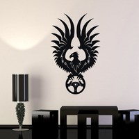Wall Decal Phoenix Car Service Garage Steering Wheel Vinyl Stickers Unique Gift (ig2903)