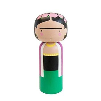 Frida Kahlo Kokeshi Japanese Dolls by Lucie Kaas: Home & Kitchen