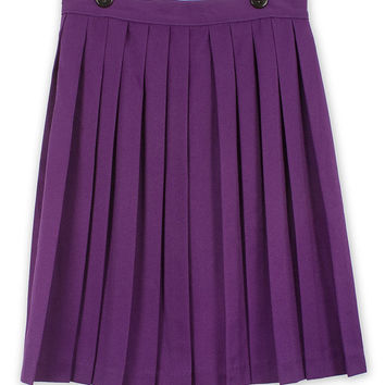Vintage 1980s Purple Pleated Skirt
