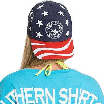 America Snapback Hat in Red, White & Blue by The Southern Shirt Co.