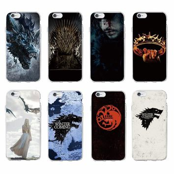 TOMOCOMO For iPhone 7 7Plus 6 6S 8 8Plus X 5 5S SE XS Max Game Thrones Wolf  Soft TPU Phone Case Cover Coque Fundas For SAMSUNG