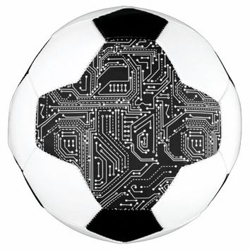 Computer Circuit Board Soccer Ball