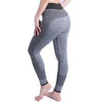 Hot sale women Sexy High Waist Stretched Gym Clothes Spandex Quick-drying Running Womens Sports Leggings Fitness Active Pants