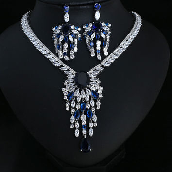 Blue Bridal Jewellery Bride set