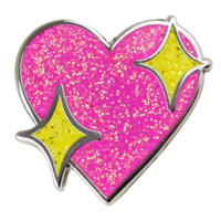 Sparkle Heart Emoji Pin