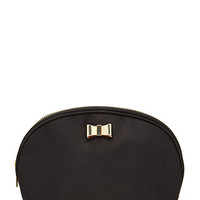 FOREVER 21 Bow Decor Makeup Case Black/Gold One
