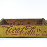 Vintage Coke Pop Wood Crate / Vintage Industrial