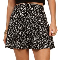 loral Print Flare Skirt