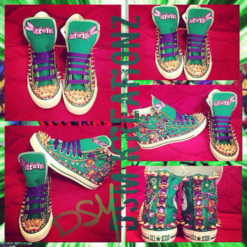Custom TMNT Converse All Star's - Donatello Edition
