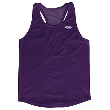 Purple Running Tank Top Racerback Track and Cross Country Singlet Jersey
