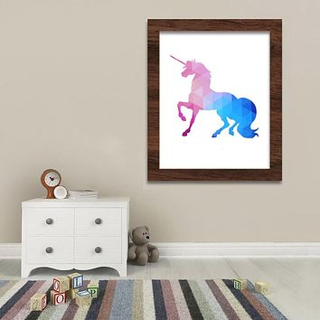 Modern Decor Frameless Wall Picture Unicorn Pattern Waterproof Canvas Art Print Poster Wall Pictures For Living Room Home Decor