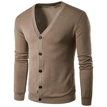 Male Knitted Sweater Top Clothing Spring Men Sweater Outwear Clothes