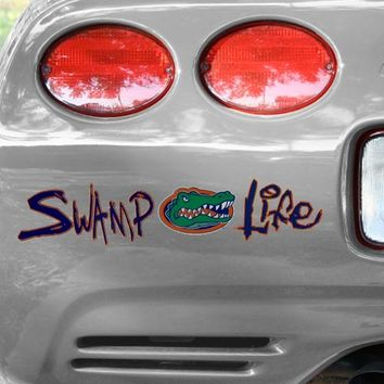 Florida Gators Swamp Life Gator Head Car Decal