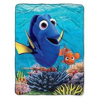 """Disney Finding Dory High Definition Silk Touch Throw Blanket 46"""" x 60"""""""