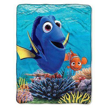 "Disney Finding Dory High Definition Silk Touch Throw Blanket 46"" x 60"""