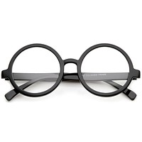 Retro Round Spectacles Clear Lens Glasses 8034