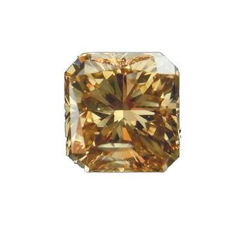 7ct Cut Corners Champagne Radiant Cut Diamond Veneer Loose Stone