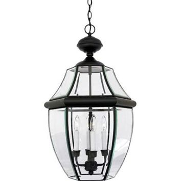 Quoizel Newbury Outdoor Extra-Large Hanging Lantern in Mystic Black