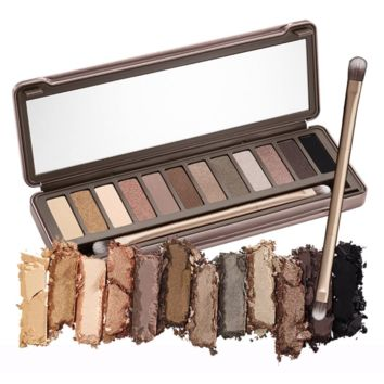 Naked Makeup Palette 2 12 Colors nk2 Glitter Matte Eyeshadow palettes with Brush Cosmetics Make up set Free Shipping