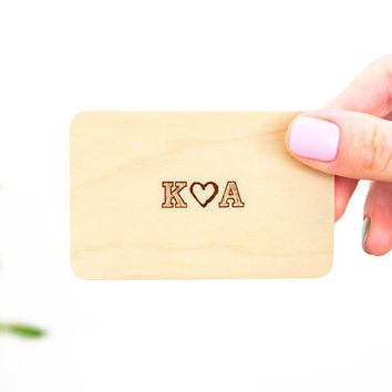 Wood Wallet Card, Wallet Insert Card, Personalized Wallet Card, Custom Message Card, Memory Wallet Card, Engraved Wallet Card, Wallet Card