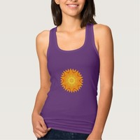 Orange and Yellow Abstract Sun T-shirts