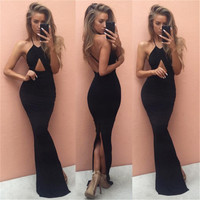 Sexy Women Bandage Bodycon Dress Party Club Wear maxi Dress