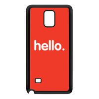 Hello Black Silicon Rubber Case for Galaxy Note 4 by textGuy