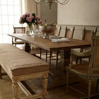 """Maya"" Chairs & ""Natural"" Dining Table - Horchow"
