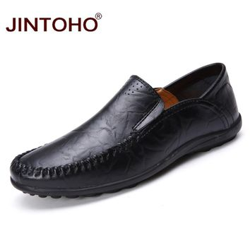 Men Leather Shoes Luxury Genuine Leather Men Shoes Fashion Casual Male Shoes Designer Flats Leather Men Loafers