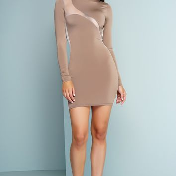 Moni Mini Dress - Nude